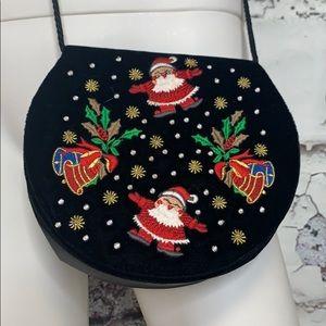 Vintage Christmas theme purse